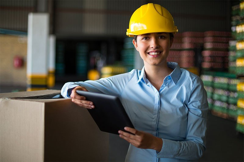 female supervisor with clipboard